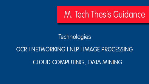 project m.tech thesis